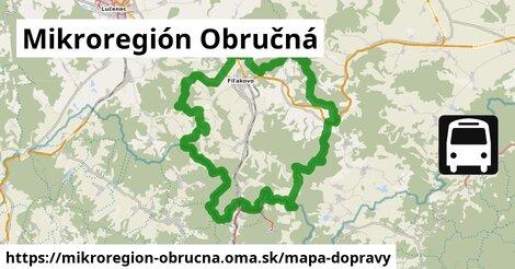 ikona Mikroregión Obručná: 16km trás mapa-dopravy  mikroregion-obrucna