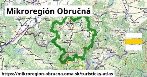 ikona Mikroregión Obručná: 66km trás turisticky-atlas  mikroregion-obrucna