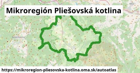 ikona Mapa autoatlas  mikroregion-pliesovska-kotlina