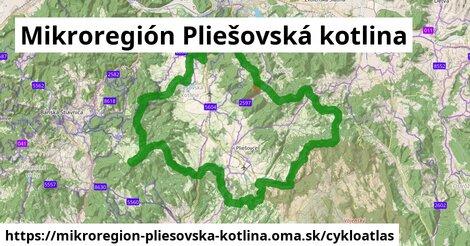 ikona Mikroregión Pliešovská kotlina: 16km trás cykloatlas  mikroregion-pliesovska-kotlina