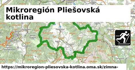 ikona Mikroregión Pliešovská kotlina: 4,6km trás zimna-mapa  mikroregion-pliesovska-kotlina
