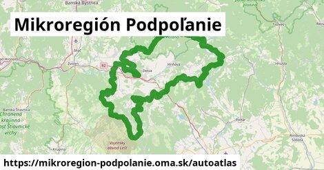 ikona Mapa autoatlas  mikroregion-podpolanie