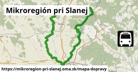 ikona Mikroregión pri Slanej: 19km trás mapa-dopravy  mikroregion-pri-slanej