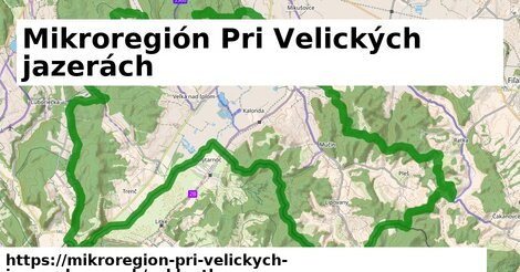 ikona Mikroregión Pri Velických jazerách: 37km trás cykloatlas  mikroregion-pri-velickych-jazerach