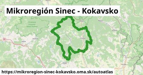 ikona Mapa autoatlas  mikroregion-sinec-kokavsko