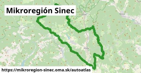 ikona Mapa autoatlas  mikroregion-sinec