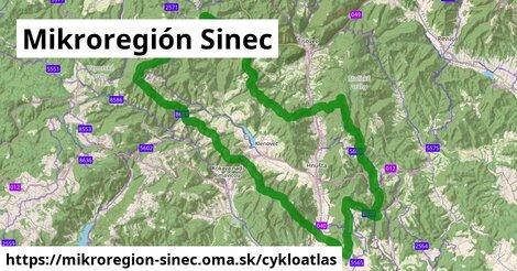 ikona Mikroregión Sinec: 34km trás cykloatlas  mikroregion-sinec