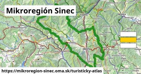 ikona Mikroregión Sinec: 106km trás turisticky-atlas  mikroregion-sinec