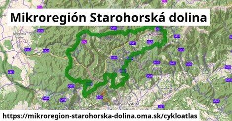 ikona Mikroregión Starohorská dolina: 117km trás cykloatlas  mikroregion-starohorska-dolina