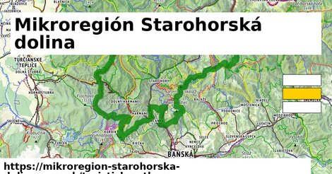 ikona Mikroregión Starohorská dolina: 231km trás turisticky-atlas  mikroregion-starohorska-dolina