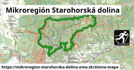 ikona Mikroregión Starohorská dolina: 48km trás zimna-mapa  mikroregion-starohorska-dolina