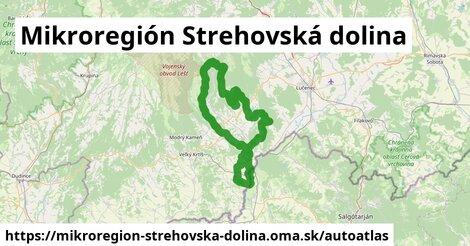 ikona Mapa autoatlas  mikroregion-strehovska-dolina