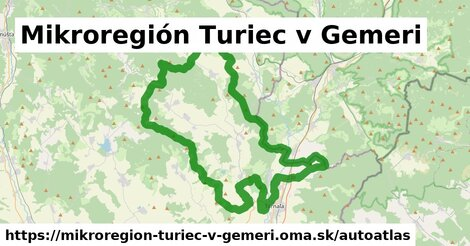 ikona Mapa autoatlas  mikroregion-turiec-v-gemeri