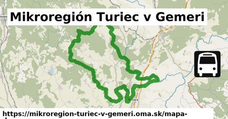 ikona Mikroregión Turiec v Gemeri: 1,65km trás mapa-dopravy  mikroregion-turiec-v-gemeri