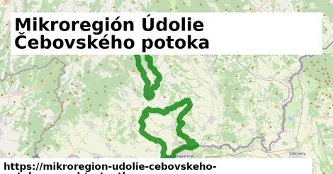ikona Mapa autoatlas  mikroregion-udolie-cebovskeho-potoka