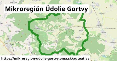 ikona Mapa autoatlas  mikroregion-udolie-gortvy
