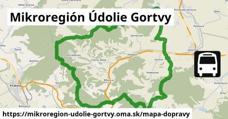 ikona Mikroregión Údolie Gortvy: 10,5km trás mapa-dopravy  mikroregion-udolie-gortvy