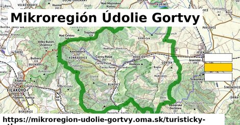 ikona Turistická mapa turisticky-atlas  mikroregion-udolie-gortvy