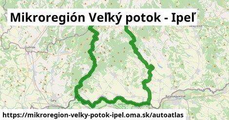 ikona Mapa autoatlas  mikroregion-velky-potok-ipel