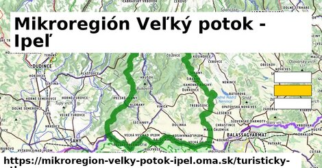 ikona Mikroregión Veľký potok - Ipeľ: 10,0km trás turisticky-atlas  mikroregion-velky-potok-ipel