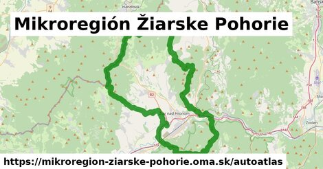 ikona Mapa autoatlas  mikroregion-ziarske-pohorie
