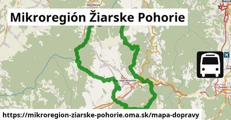ikona Mikroregión Žiarske Pohorie: 60km trás mapa-dopravy  mikroregion-ziarske-pohorie