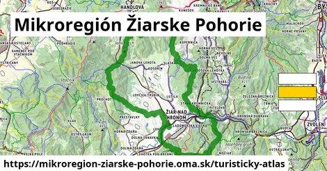 ikona Mikroregión Žiarske Pohorie: 51km trás turisticky-atlas  mikroregion-ziarske-pohorie