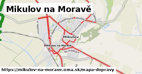 ikona Mikulov na Moravě: 149km trás mapa-dopravy  mikulov-na-morave