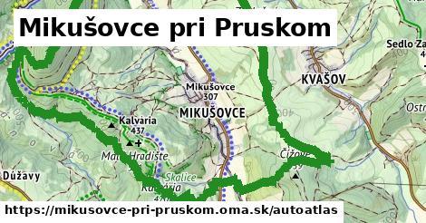 ikona Mapa autoatlas  mikusovce-pri-pruskom