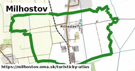 ikona Milhostov: 0m trás turisticky-atlas v milhostov