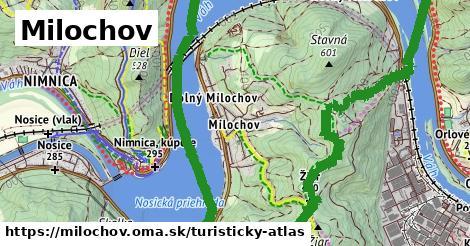 ikona Milochov: 7,1km trás turisticky-atlas  milochov