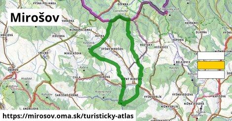 ikona Turistická mapa turisticky-atlas  mirosov