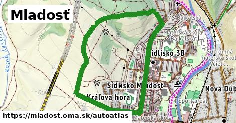ikona Mapa autoatlas  mladost