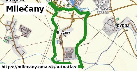 ikona Mapa autoatlas  mliecany