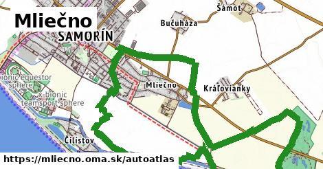 ikona Mapa autoatlas  mliecno