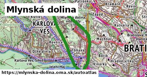 ikona Mapa autoatlas  mlynska-dolina
