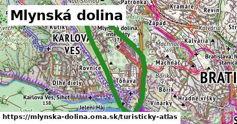 ikona Mlynská dolina: 6,2km trás turisticky-atlas v mlynska-dolina