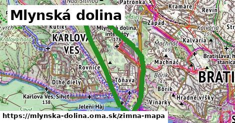 ikona Mlynská dolina: 444m trás zimna-mapa v mlynska-dolina