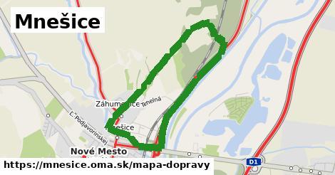 ikona Mnešice: 2,4km trás mapa-dopravy  mnesice