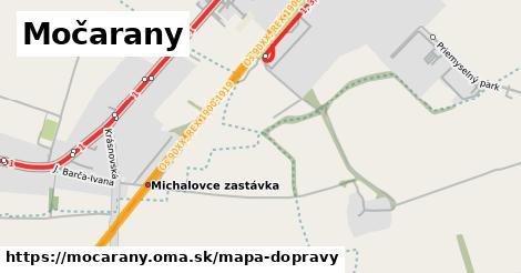 ikona Močarany: 9,4km trás mapa-dopravy v mocarany