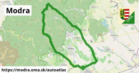 ikona Mapa autoatlas  modra