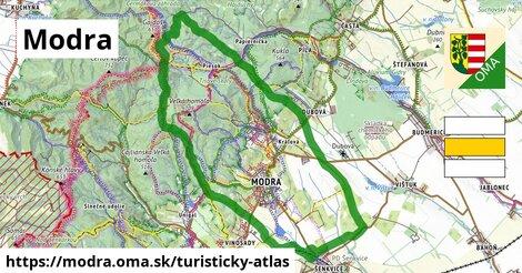 ikona Turistická mapa turisticky-atlas  modra