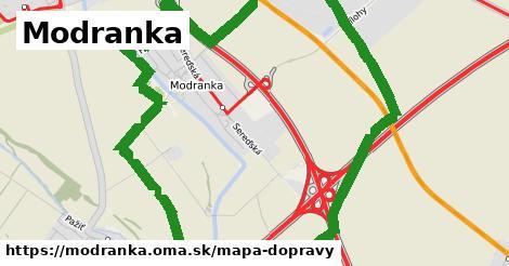 ikona Modranka: 2,1km trás mapa-dopravy  modranka