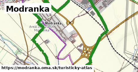 ikona Modranka: 0m trás turisticky-atlas  modranka