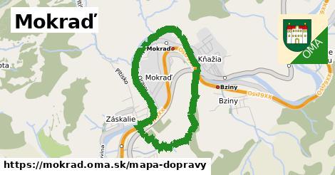 ikona Mokraď: 4,7km trás mapa-dopravy  mokrad