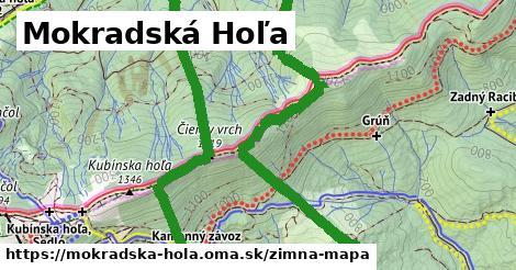 ikona Mokradská Hoľa: 3,4km trás zimna-mapa  mokradska-hola
