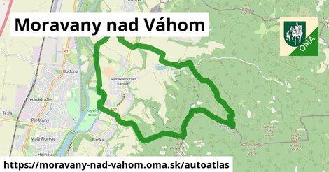 ikona Mapa autoatlas  moravany-nad-vahom