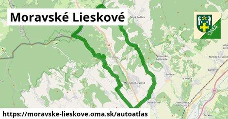 ikona Mapa autoatlas  moravske-lieskove