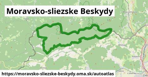 ikona Mapa autoatlas  moravsko-sliezske-beskydy