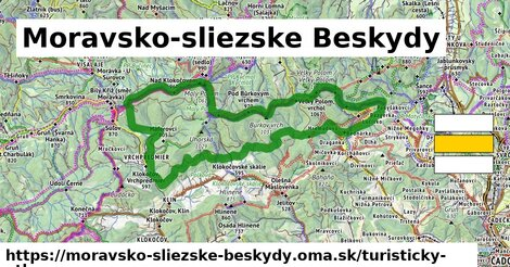 ikona Turistická mapa turisticky-atlas  moravsko-sliezske-beskydy